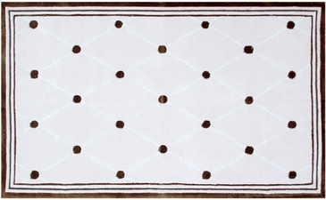 Tufts Pink/Brown Tufted Rug