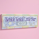 """Twinkle Twinkle Little Star"" Baby Name Canvas"