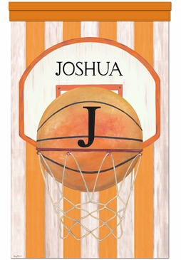 Vintage Basketball Wall Hanging Personalized by Dish and Spoon