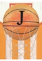 Vintage Basketball Wall Hanging Personalized by Dish and Spoon - click to Enlarge