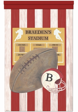 Vintage Football Wall Hanging Personalized by Dish and Spoon