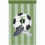 Vintage Soccer Wall Hanging Personalized by Dish and Spoon