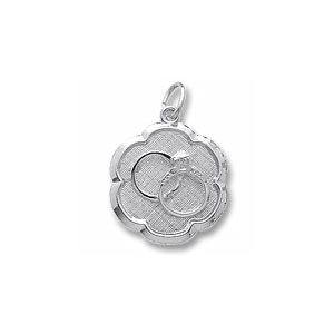 Wedding Rings Disc Charm by Forever Charms - Personalized