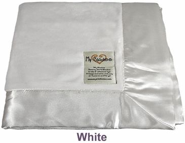 White Solid Velour Blanket by My Blankee