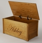 Wooden Toy Chest w/ Elegant Script  (Personalized) - click to Enlarge
