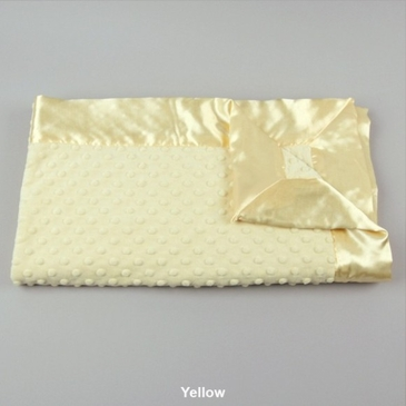 Yellow Dot Velour Blanket by My Blankee