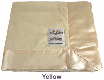 Yellow Solid Velour Blanket by My Blankee
