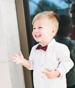 Boys Burgundy Velvet Bow Tie