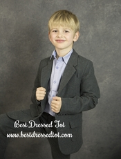 Boys Charcoal Brush Flannel Blazer