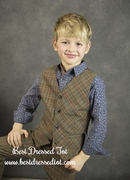Boys Gentlemen Plaid Vest