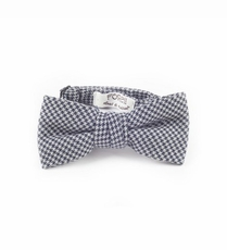 Boys Adjustable Size Grey Houndstooth Bow Tie