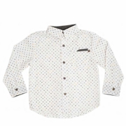 Boys Long Sleeve Paisley Print Shirt