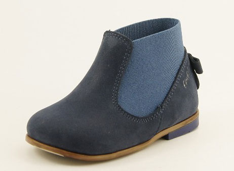 Emel Navy Ankle Leather Pull On Boot