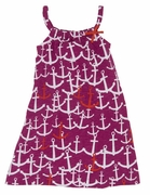 Hatley Girls Scattered Anchors Jersey Dress
