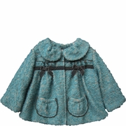 Isobella and Chloe Girls Teal Coat - Candace