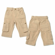 Kapital K Boys Tan Corduroy Cargo Pants