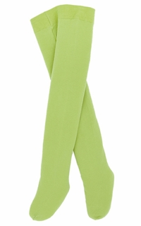 Le Top Baby and Infant Girl Solid Green Pima Cotton TIGHTS
