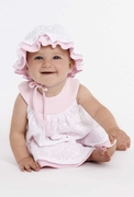 Le Top Baby Girls Dot Dress With Eyelet Overskirt - Summer Sweetie
