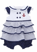 Le Top Baby Girls Nautical Bubble Dress - Ahoy Baby