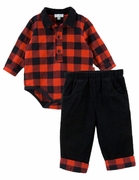 Le Top Boys Buffalo Check Bodysuit & Corduroy Pants � Mad for Plaid