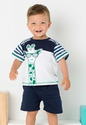 Le Top Boys Cool Giraffe Tee and Terry Short Set � Stand Tall