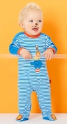 Le Top Boys Footed Stripe Coverall � Amazing Animals