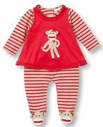 Le Top Girls Footed Stripe Jumpsuit & Pinafore � Silly Monkey
