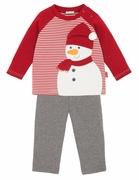 Le Top Boys Frosty Stripe Shirt and Pant Set - Frosty and Family