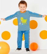 Le Top Boys Hungry Dino Shirt & French Terry Pant Set � Dino in the City!
