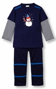 Le Top Boys Juggling Snowman Shirt and French Terry Pant � Frozen Friends