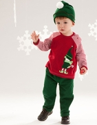 Le Top Boys Little Elf Shirt and Terry Pant Set � Jolly Elves