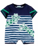 Le Top Boys Painted Stripe Giraffe Romper � Stand Tall