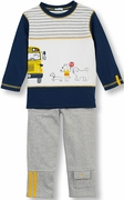 Le Top Boys Pieced Shirt & Gray French Terry Pant Set � A Dog�s Life