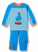 Le Top Boys Surprising Seal Shirt and Terry Pant Set � Amazing Animals