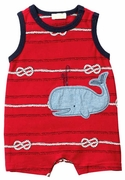 Le Top Boys Whale Sleeveless Romper � By The Sea