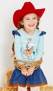 Le Top Girls Cowgirl Love Shirt and Skirt Set � Howdy