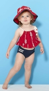 Le Top Girls Nautical Two Piece Swimsuit with Cord Straps � By The Sea