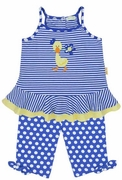 Le Top Girls Stripe Suntop and Dot Capri - Darling Ducks
