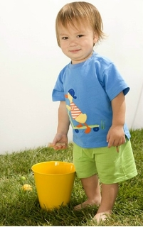 Le Top Infant Boy Scooter Duck Short Set - Sunny Ducky