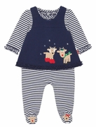 Le Top Reindeer Love Jumpsuit and Pinafore Set � Reindeer Romp