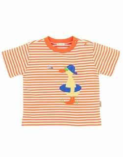 Le Top Toddler Boy Orange Stripe T-shirt - SUNNY DUCKY