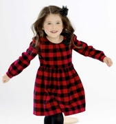 Le Top Little Girls Red & Black Check Dress � Mad for Plaid