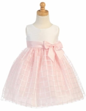 Lito Girls Embroidered Organza Dress – Pink