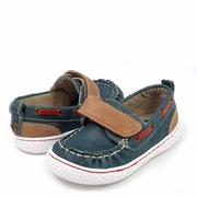 Livie and Luca Boys Vintage Blue Nautical Shoe - North