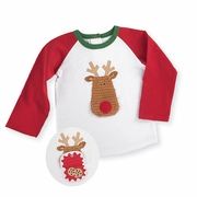 Mud Pie Boys Open Mouth Reindeer Shirt - Night Before Christmas