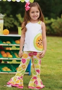 Mud Pie Girls Citrus Pant Set � Tutti Frutti