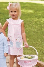 Mud Pie Girls Bunny Pocket Dress – Happy Easter