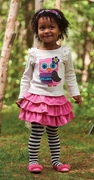 Mud Pie Girls Owl Skirt Set � Forest Friends PREORDER