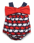Mud Pie Girls Whale Swimsuit with Bow