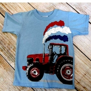 Mulberribush Boys Patriotic Tractor T-Shirt